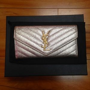 🛑TRADED🛑metallic YSL small clutch/wallet